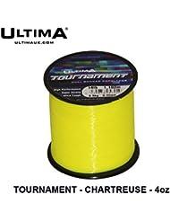 Ultima Unisex e5845torneo Super fuerte Ultra rígida mar pesca línea, sólido Amarillo, 0,35mm-16.0LB