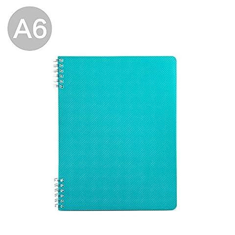 A5Draht Gebundenes Buch Projekt Notebook mit Unterteiler, 14,5x 21cm B5-blue