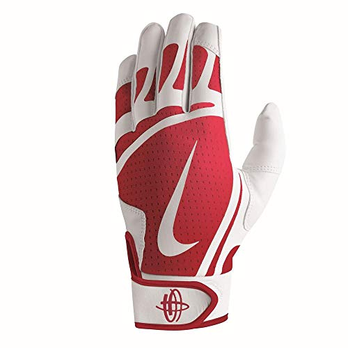 Nike Youth Huarache Edge Batting Handschuhe, Jungen, weiß/rot, L