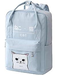 a958fcdfce Women Girls Japanese And Korean Style Bags Kawaii Cat Canvas School Backpack