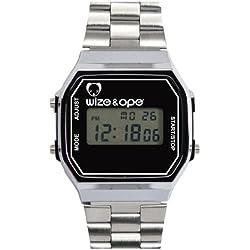 Wize & Ope Unisex-Armbanduhr 1970 Digital Quarz Silber 1970-2