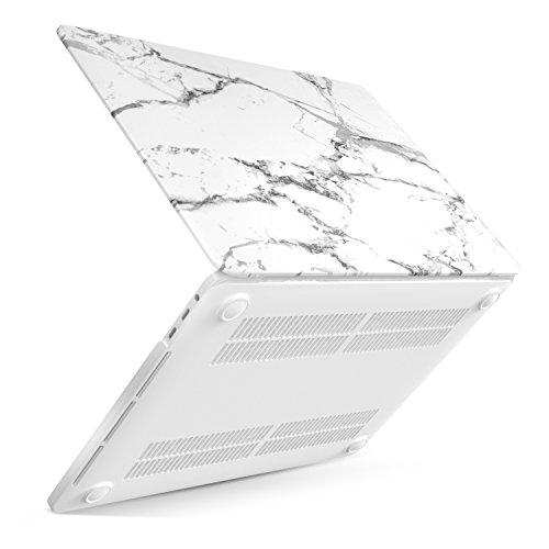 Air Kuzy Macbook (MoKo Hülle für MacBook Pro 13 2016 - Schlank Matte Harte PC Schale Schützhülle Case Cover Etui für das neue Apple MacBook Pro 13 Zoll A1706 / A1708 2016, Weißer Marmor)