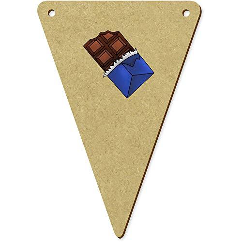 Azeeda 5 x 100mm 'Tafel Schokolade' Wimpel / Banner aus Holz (BN00056243) (Holz-tafel-banner)
