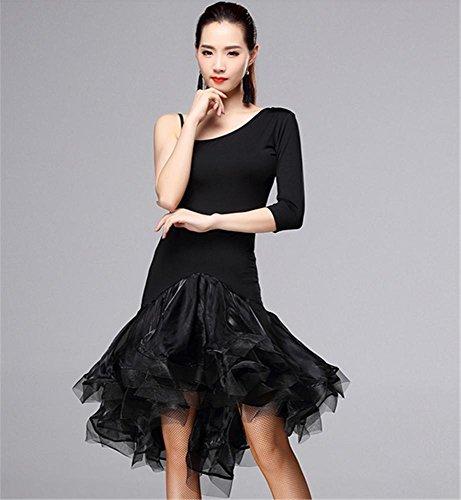 Robe de danse professionnelle en danse latine / jupe de danse pour femme Black