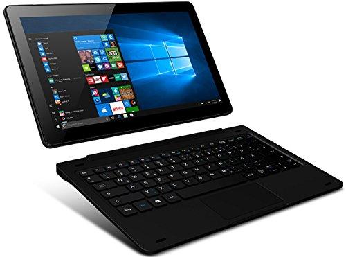 Odys Fusion Win 12 2in1 29,5 cm (11,6 Zoll) Tablet-PC (Intel Atom Quadcore x5-Z8350, Full-HD IPS Display, 2GB RAM, 32GB Flash HDD, Win 10, Micro HDMI, Micro-USB Anschluss) schwarz