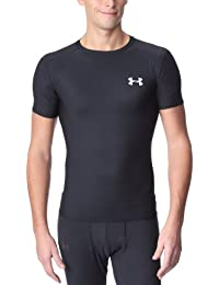 Under Armour T-shirt HG COMPRESSION FULL - Camiseta de running para hombre, color negro, talla 2XL