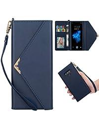 Shinyzone Élégant Enveloppe Sac à Main Coque Samsung Galaxy Note 9,Étui  Portefeuille en Cuir Souple TPU Silicone… 399ce78b647
