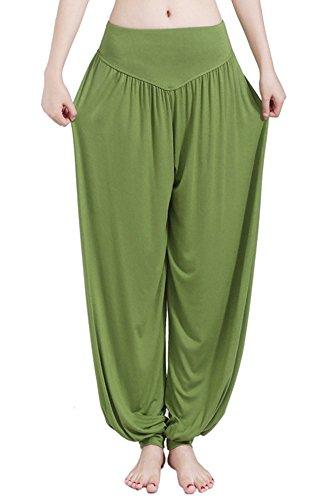 BOZEVON Damen Yogahosen Pilates Hosen Jogginghose Freizeithosen Weiche  Modal Lange Hose (Olivgrün,EU S   Tag M) 218b44ca90