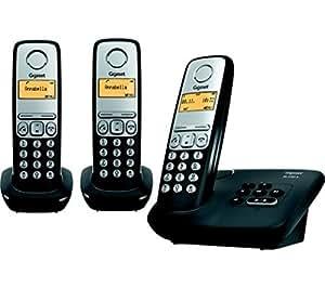 Gigaset AL230A TRIO Téléphones Sans fil Répondeur Ecran Noir