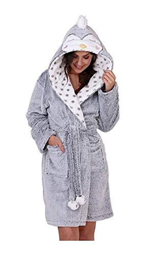 GladRags - Pijama Pieza - Mujer Gris Traje Pato Small