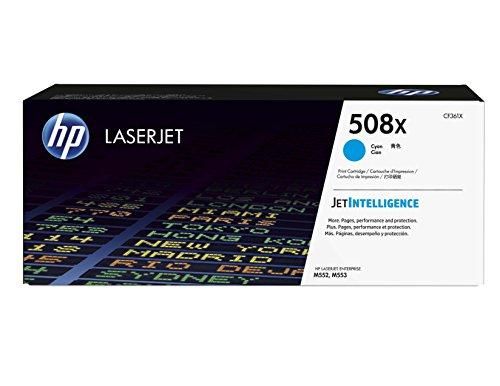 HP 508X (CF361X) Blau Original Toner mit hoher Reichweite für HP Color Laserjet Enterprise M552dn, M553, M577 - Hp Laserjet Cyan Toner