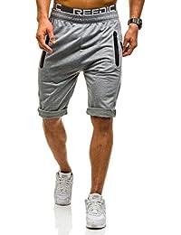 Trainingsanzug Jogginganzug Kurzhose Tanktop Shorts Herren Mix BOLF 8H8 Print