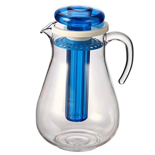 bremermann Aroma- und Kühlkrug, mit Kühlstab und Sieb, 2,8 Liter Kühlkaraffe (Blau)