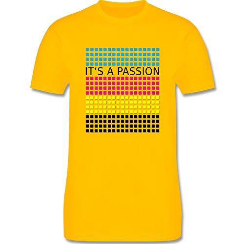 Nerds & Geeks - It's a passion - CMYK - Herren Premium T-Shirt Gelb
