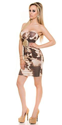 Sexy robe bandeau avec strass-element koucla by in-stylefashion sKU 0000ISF1416 Marron - Marron