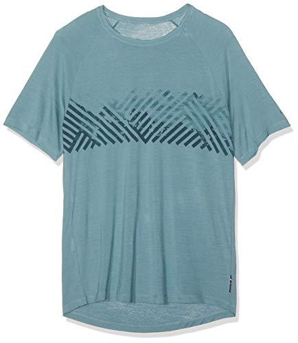 Odlo Herren BL TOP Crew Neck s/s Concord Shirt, Arctic - Mountain Stripe SS19, M -