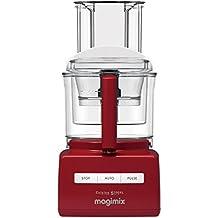 Magimix CS 5200 XL Premium - Robot de cocina (Rojo, Extra, Mezcla, Acero inoxidable)