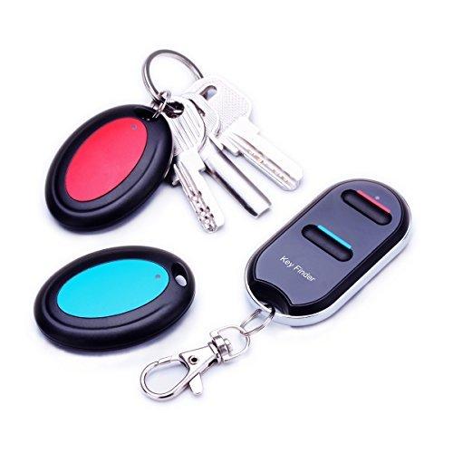 Wireless Wallet Locator Set by vodeson, tragbar RF Key Finder mit 2Schlüssel Ring-Receiver, keine App nötig