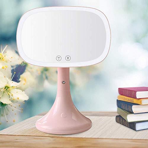 GZ Spiegel-LED Beleuchtetes Make-Up, Feuchtigkeitsspendendes Spray Um 180 ° Einstellbar Touchscreen-Tischplatte Eitelkeit Reise-Heimgebrauch,Rosa,1 -
