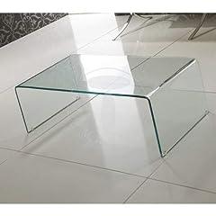 Idea Regalo - Wink Design Delaware Tavolino, Trasparente, 55 x 110 x 35 cm