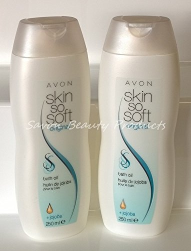 2-x-avon-skin-so-soft-original-bath-body-oil-250ml-insect-flies-mosquito-repellent