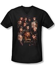 The Hobbit - - Herren Zwerge Poster mit V-Ausschnitt T-Shirt