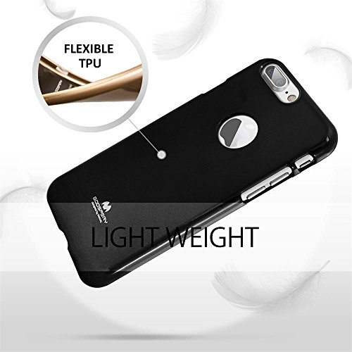 iPhone 6 Plus Hülle Jelly TPU Case Wecell [Perfect Fit] Ultra Slim handyhülle iPhone 6S Plus Shutzhülle - Schwarz Schwarz