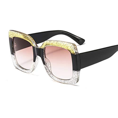 DAIYSNAFDN DREI Farbe großen Rahmen Sonnenbrille Kunststoff Trend Platz Frauen Sonnenbrille stilvoll C9