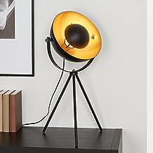 Briloner Leuchten Lampada retro vintage, lampada, da tavolo, treppiedi, max. 60 W, montaggio E27, Ø 28 x 30 x 64 cm (D plafoniera x P x A)