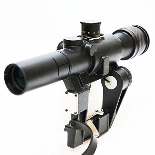 Airsoft Softair Ausrüstung 4x26 SVD Rot Beleuchtete Scharfschützen Scope Shooting Sight