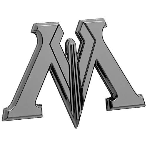 Fan Emblems Harry Potter Auto-Emblem, schwarzes Chrom-Ministerium der magischen 3D Automobilabziehbild-Aufkleber-Abzeichen, beugt, um zu den meisten glatten Oberflächen völlig zu haften (Der Illustrierte Mann Kostüm)