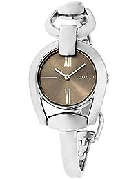Gucci Horesebit cuarzo reloj YA139501 de las mujeres Marrón 4adba85bd3e