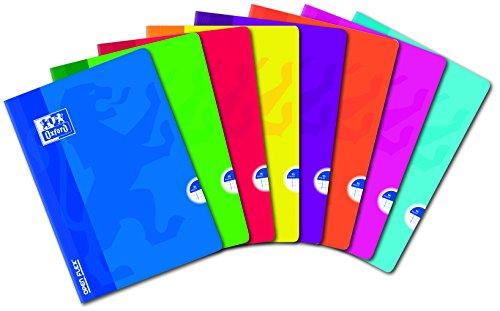 Oxford Openflex Übungsbuch, kariert 5x 596Seiten verschiedene Farben A4 (21 x 29,7 cm) verschiedene Farben