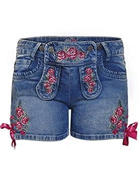 MOSER Trachten Trachten-Jeansshorts mit Rosenstickerei 004299 von MarJo, Material Baumwolle
