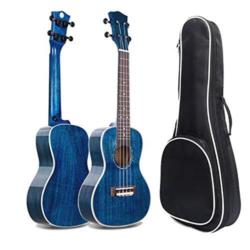 Ukulele 23 pollici concerto Ukulele Uke professionale solido legno di mogano Hawaii bambini piccola chitarra con sacchetto Gig per i bambini studenti principianti strumento musicale regali lucido blu