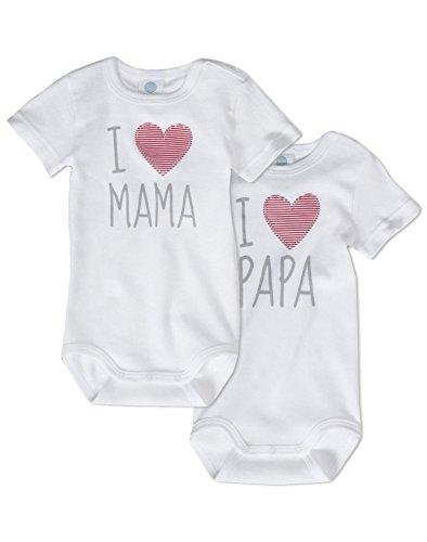 """Sanetta Unisex Body """"I love Mama + I love Papa"""""""