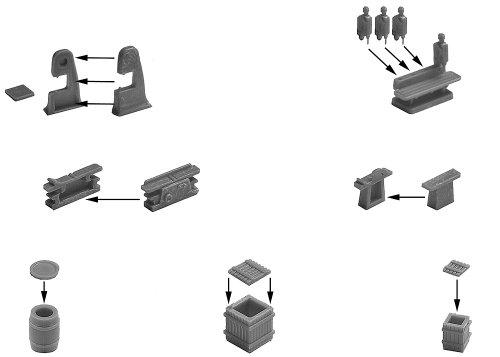 Faller 180588 - Productos de carga en miniatura para maquetas (escala H0) importado de Alemania