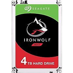 Seagate IronWolf 4 To, Disque dur interne NAS HDD - 3,5 pouces SATA 6 Gbit/s 5 900 tr/min, 64 Mo de mémoire cache, pour stockage en réseau NAS RAID (ST4000VN008)