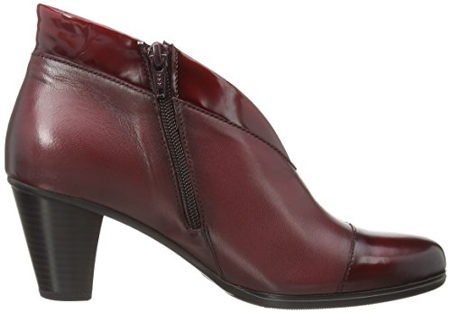 Gabor Enfield, Bottes Classiques Femme Rouge (dark Red Leather/patent Trim)