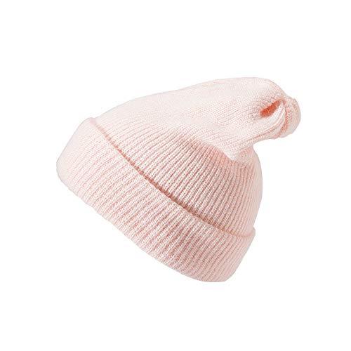 FeiBeauty Männer Frauen Warm Winter Plissee Kaninchenfell Strickmütze Crochet Winter Mit Samtpelz Feste Ohrenschützer Slouchy Hut