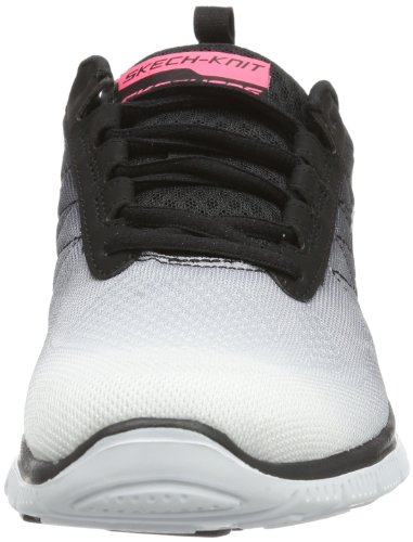 Skechers Flex Appeal New Arrival, Chaussures de sports en salle femme Blanc (Wbk)