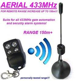 Externe Antenne für Remote-Abstand bis zu 150m Tor Automatisierung 50Ohm, Antenne mit Magnetishe Mount Base für entfernten Bereich erhöhen Surface Mount Antenne