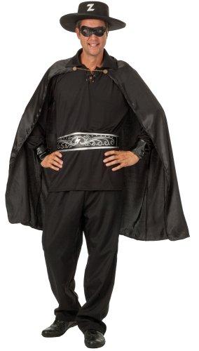 Zorro Kostüm (r-dessous exclusives 6 teiliges Herren Zorro Rächer Kostüm mit Hut für die Mottoparty Karneval und Halloween Groesse:)
