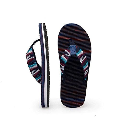 Mens Fabric Flip Flops Hochwertige Soft Beach Hausschuhe Schuhe Ultralight Mode Sandalen Casual von Sikaini Dunkelblau