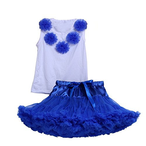 Tortoise & Rabbit Baby Mädchen Balletrock Kostüm Blumenbehälter Tütü Pettiskirt elastische Taille Mini Rock Röckchen Petticoat Tutu Kleid Kleidsatz Dress Set (M, (Of Kostüme Ages Uk Rock)