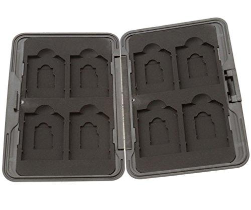 Preisvergleich Produktbild Speicherkarten Schutzbox / Memory Card Case für 8 SD Karten Schwarz Tragetasche