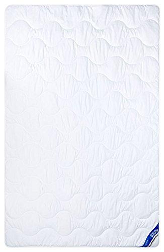 Aminata – Bettdecke 135x200 cm Allergiker Leichtsteppbett 100% Mikrofaser Antibakteriell & mit Steppung | Atmungsaktive Schlafdecke Steppbettdecke Ganzjahr Sommer Sommerdecke Steppdecke Steppbett