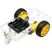 YIKESHU 2WD Smart Motor Robot chasis del Coche Kit de Caja de batería codificador de Velocidad