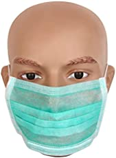 Neon Disposable Air Pollution Green Face Mask 100 Pcs