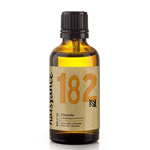 Naissance Olio essenziale di Citronella Puro al 100%, Vegano, senza OGM - 50ml (n°182)